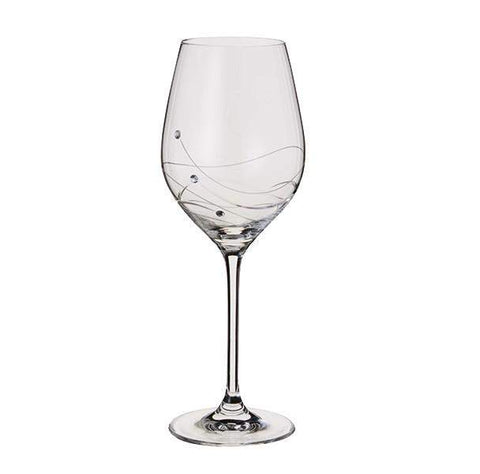 Dartington Crystal Glitz Wine Glass Single