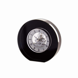 Dartington Crystal Round Black Clock