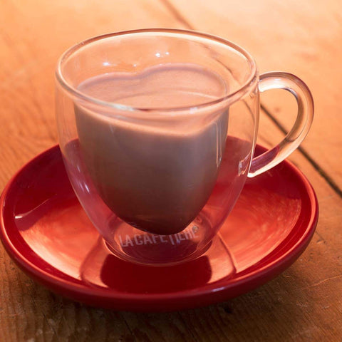 La Cafetiere Double Walled Heart Glass and Saucer - 300ml
