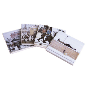 Lowry Assorted Coasters - Set of 4