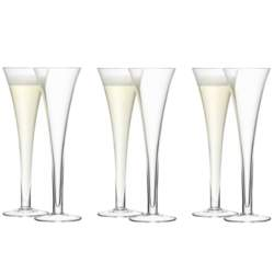 LSA Bar Hollow Stem Champagne Flute 200ml - Set of 6