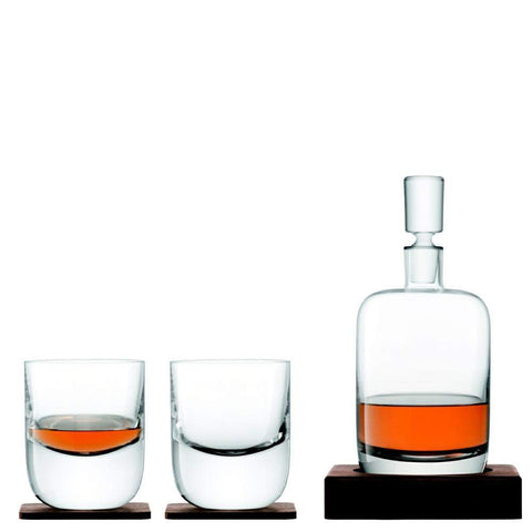 LSA Whisky Renfrew Decanter and Set of 2 Tumblers