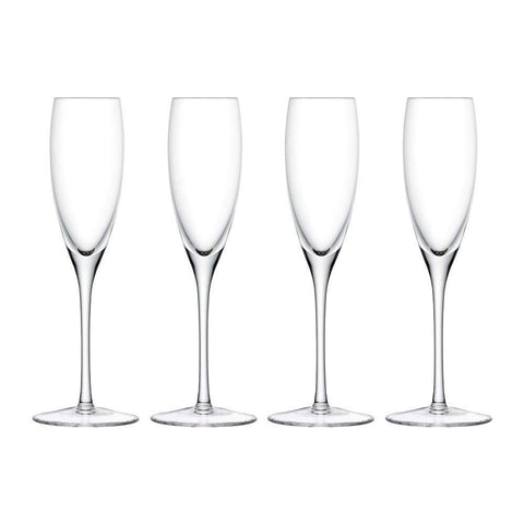 LSA Wine Champagne Flute 150ml - Clear - Set of 4