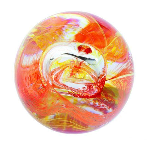 Caithness Glass Mooncrystal Fire Paperweight