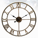 Vintage Style Roman Numeral Metal Wall Clock 40/47CM