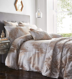 Quartz Duvet Set Single Rose Gold