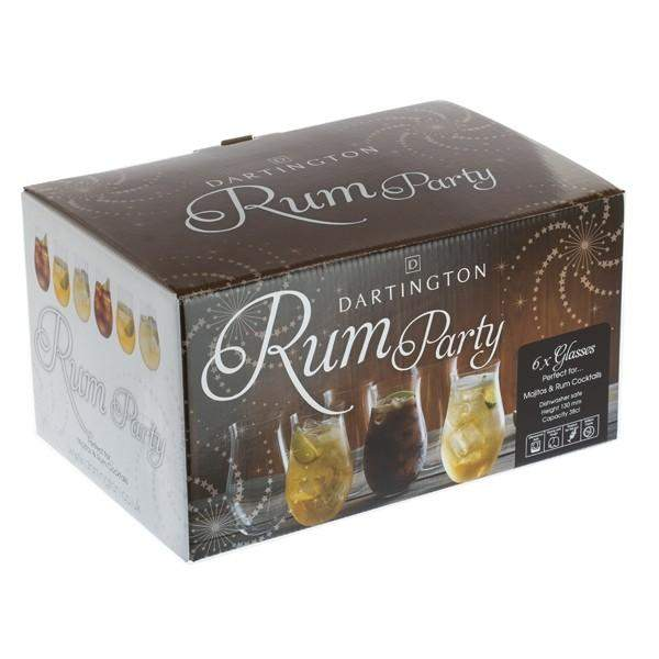 Dartington Crystal Party Pack Set of Six Rum Tumblers
