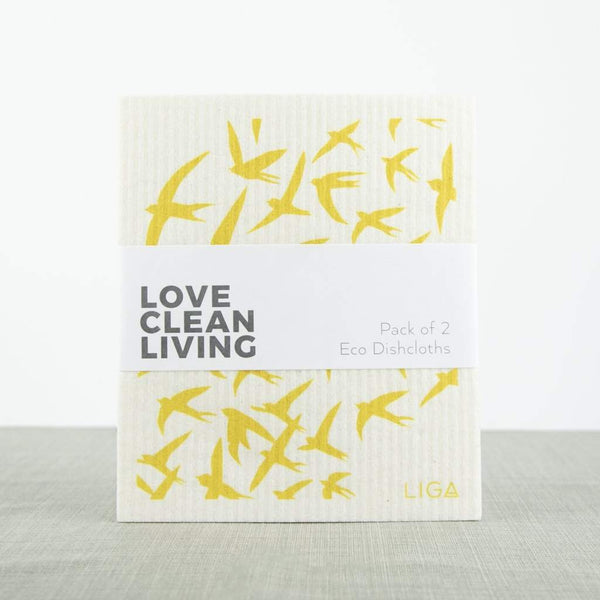 Liga Eco Dishcloths Swallow & Dandelion