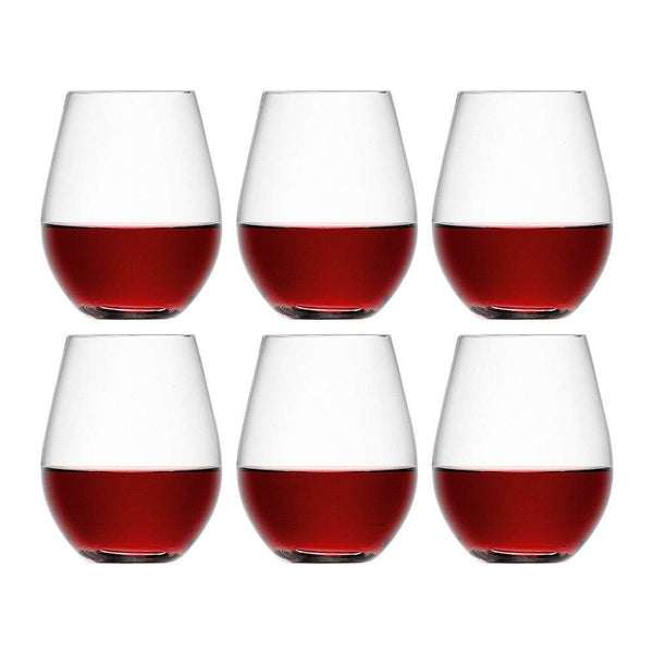 LSA International Wine Stemless Red Wine 530ml x6