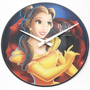 "Beauty & The Beast<br>Soundtrack<br>12"" Vinyl Clock"