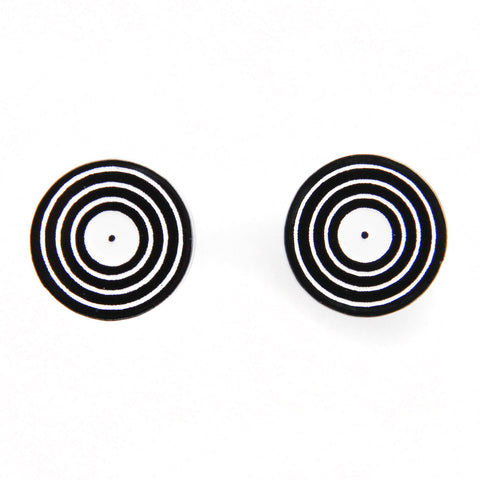 Handmade Acrylic <br>Vinyl LP Record <br>Stud Earrings