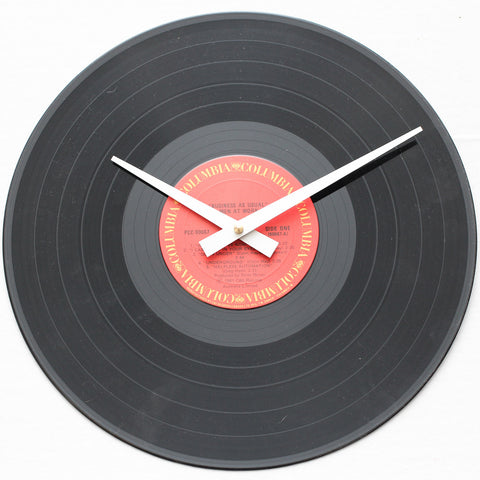 "Men At Work<br> Business As Usual <br>12"" Vinyl Clock"
