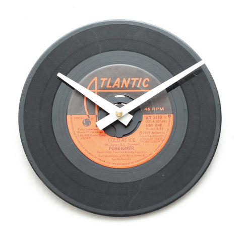 "Foreigner<br>Cold As Ice<br>7"" Vinyl Clock"