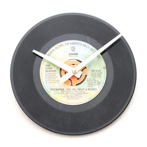 "The Four Seasons<br>December, 1963<br>7"" Vinyl Clock"