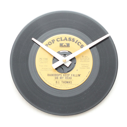 "B.J. Thomas<br>Raindrops Keep Fallin...<br>7"" Vinyl Clock"