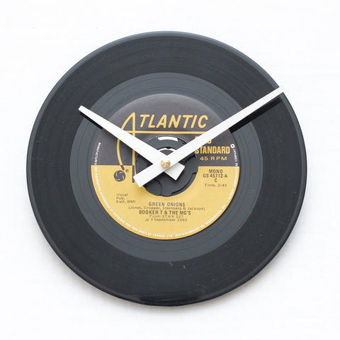 "Booker T & The MG's<br>Green Onions<br>7"" Vinyl Clock"