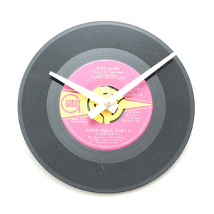 "Rick James<br>Super Freak<br>7"" Vinyl Clock"