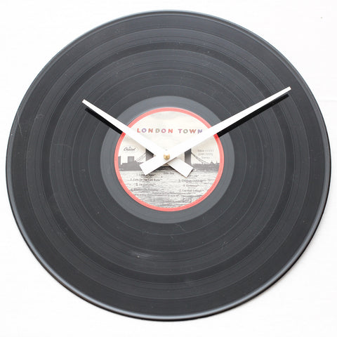 "Wings<br>London Town<br>12"" Vinyl Clock"