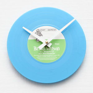 "Brian Wilson<br>Wonderful<br>7"" Vinyl Clock"