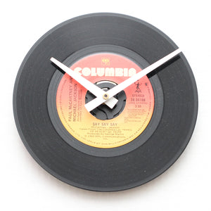 "Paul McCartney &<br>Michael Jackson<br>Say Say Say<br>7"" Vinyl Clock"