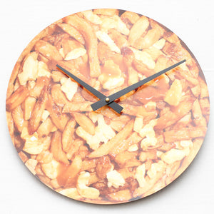 "Tasty Poutine<br>Original Photo<br>12"" Vinyl Clock"