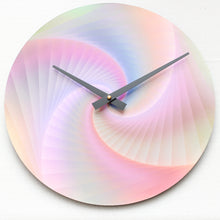 "Red Spiral<br>Original Print<br>12"" Vinyl Clock"