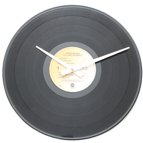 "Steve Miller Band<br>Fly Like An Eagle<br>12"" Vinyl Clock"