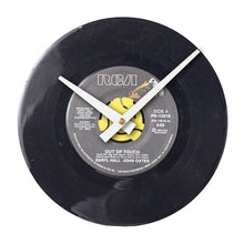 "Hall and Oates - Out of Touch -7"" 45 RPM Single - Handmade Vinyl Record Clock Using Original 45"