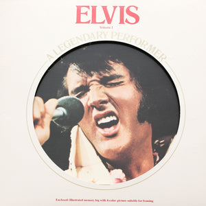 "Elvis Presley<br>Legendary Performer<br>12"" Orange Vinyl Clock"