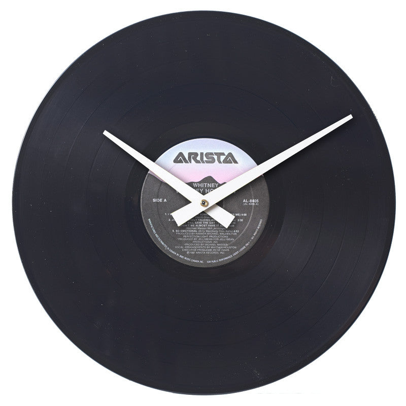 Whitney Houston - Whitney Authentic Vinyl Clock Made From Original LP Record