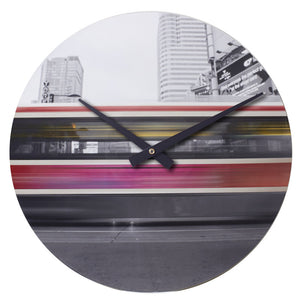 "Busy Streetcar<br>Original Photo<br>12"" Vinyl Clock"