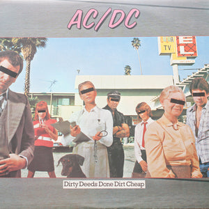 "AC/DC<br> Dirty Deeds Done Dirt Cheap<br> 12"" Vinyl Clock"