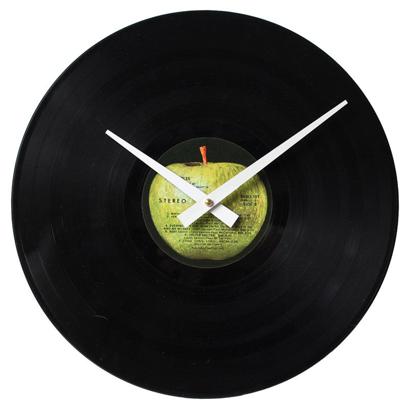 The Beatles - White Album Record 2 - Handmade Vinyl Clock made From Authentic LP Record