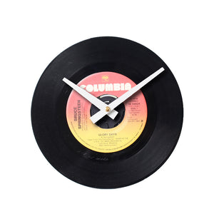 "Bruce Springsteen - Glory Days 7"" 45 RPM Single - Handmade Vinyl Record Clock Using Original 45"
