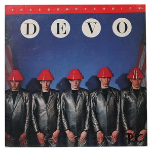 DEVO - Freedom Of Choice- Authentic Vinyl Record Clock Made From Original LP Record