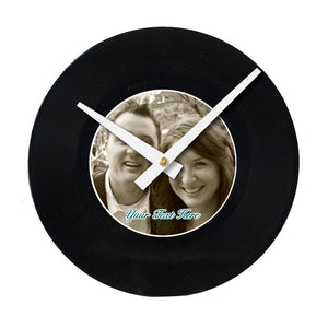 "Design Your Own<br>Custom Made<br>7"" Vinyl Clock"