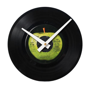 "The Beatles Let It Be - 7"" 45 RPM Single - Handmade Vinyl Record Clock Using Original 45"