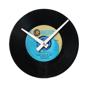 "Sammy Davis JR - The Candy Man 7"" 45 RPM Single - Handmade Vinyl Record Clock Using Original 45"