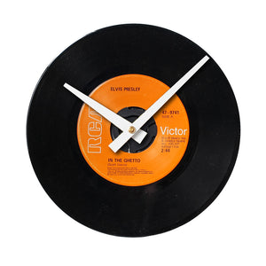 "Elvis Presley - In The Ghetto 7"" 45 RPM Single - Handmade Vinyl Record Clock Using Original 45"