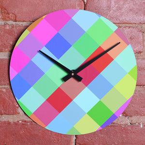 "Custom Made 12"" Colourful Printed Clock Using Original LP Record"