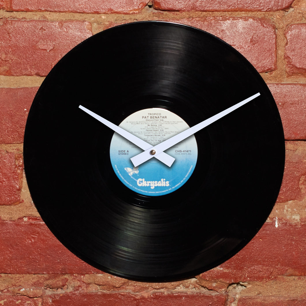 Pat Benatar - Tropico - Authentic Vinyl Clock Made From Original LP Record