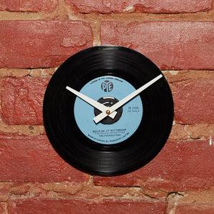 "The Foundations - Build Me Up Buttercup 7"" 45 RPM Single - Handmade Vinyl Record Clock Using Original 45"
