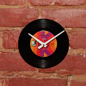 "Sonny & Cher - I Got You Babe 7"" 45 RPM Single - Handmade Vinyl Record Clock Using Original 45"