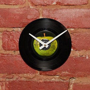 "Beatles - Long And Winding Road 7"" 45 RPM Single - Handmade Vinyl Record Clock Using Original 45'"