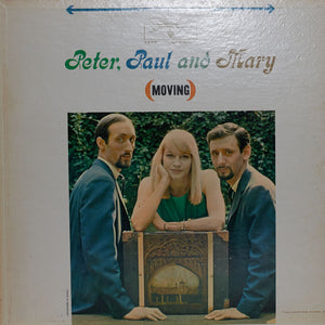 Peter, Paul & Mary - Moving - Authentic Vinyl Record Clock Made From Original LP Record