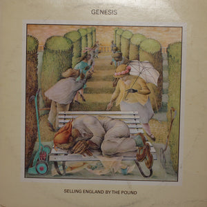 Genesis - Selling England By The Pound - Handmade Vinyl Record Clock Using Original LP