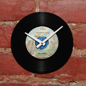 "Dire Straits - Sultans of Swing 7"" Single - Handmade Vinyl Record Clock Using Original 45"