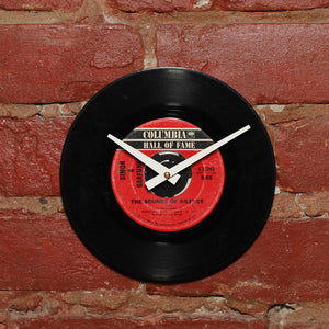 "Simon & Garfunkle - Sounds Of Silence 7"" Single - Handmade Vinyl Record Clock Using Original 45"