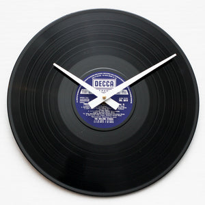 "Rolling Stones<br> Through The Past<br> 12"" Vinyl Clock"