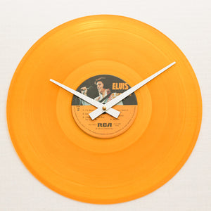 "Elvis Presley <br>Canadian Tribute<br> 12"" Orange Vinyl Clock"